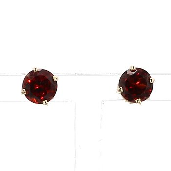 1 1/4ct Mozambique Garnet Stud Earrings