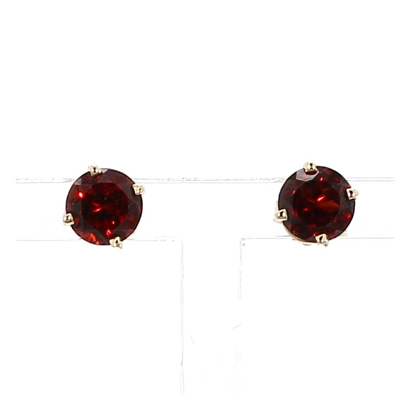 1 1/4ct Mozambique Garnet Stud Earrings