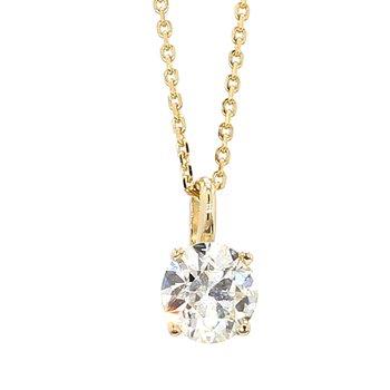 "2/3ct Diamond Solitaire Pendant 18"""
