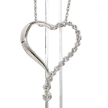 1/3ct Diamond Heart Necklace