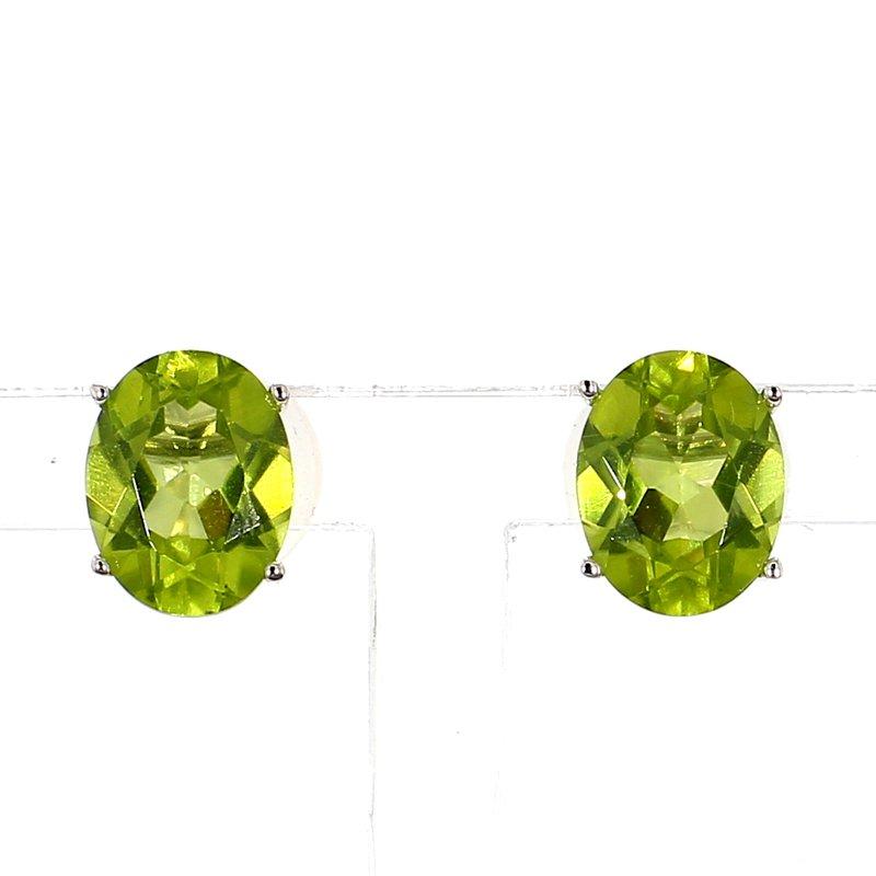 3.90ct Peridot Stud Earrings