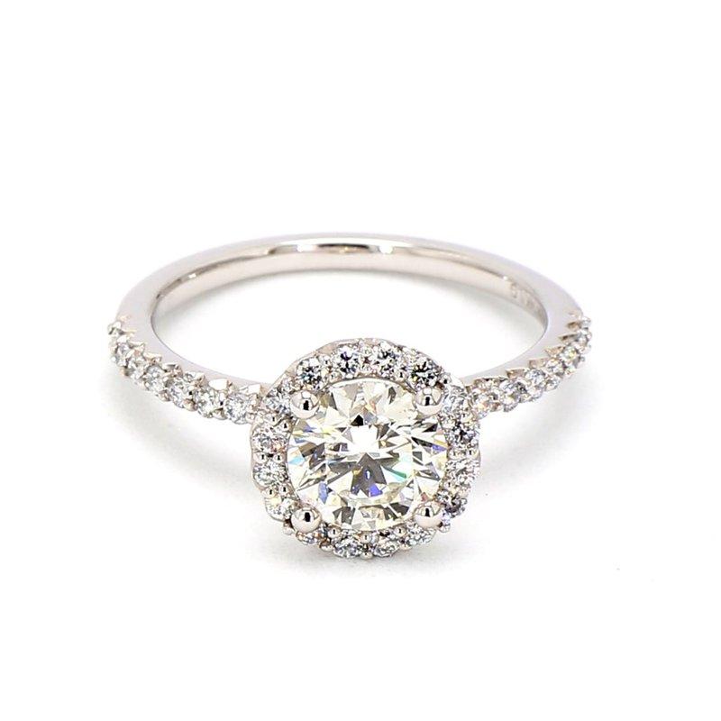 1.13ct Diamond Halo Engagement Ring