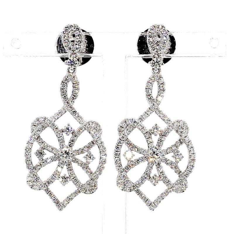 1 4/5ct Diamond Drop Earrings