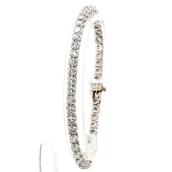 "3 1/4  Carat Diamond Tennis Bracelet 7"" x 4.09mm"