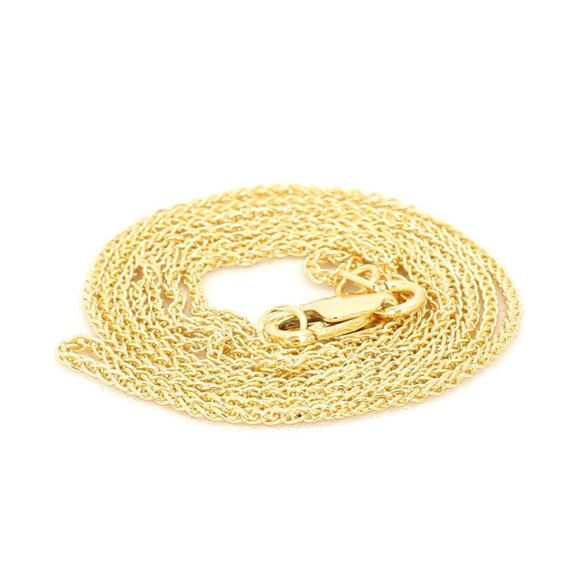 "14 Karat Yellow Gold Wheat Chain 16"""