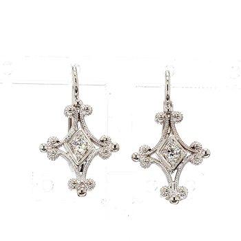 .15ct Diamond Designer Drop Hinged Earrings
