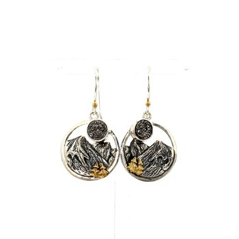 Blue Ridge Mountain Earrings