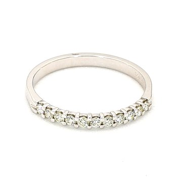.25 Carat Diamond Smart Eternity 11 Stone Ring Crafted In 14 Karat White Gold