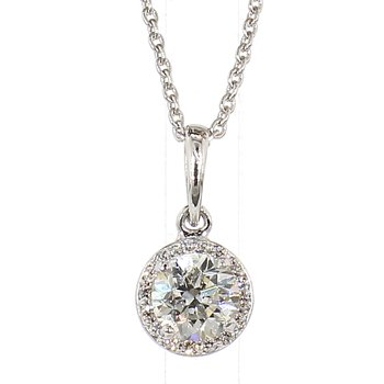 .60 Carat Diamond Halo Pendant