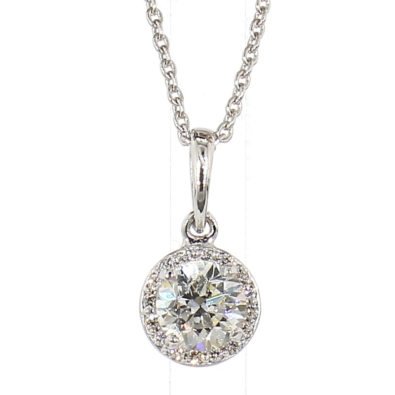 .60 Carat Diamond Halo Pendant