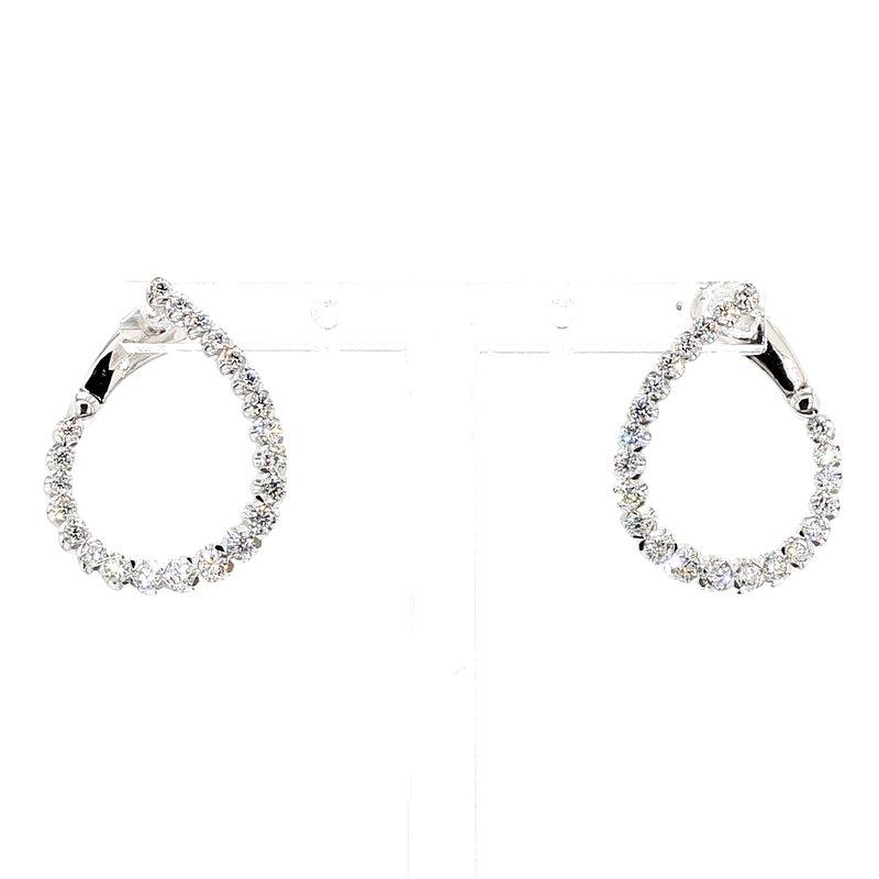 1ct Twisted Diamond Fashion Hoop Earrings