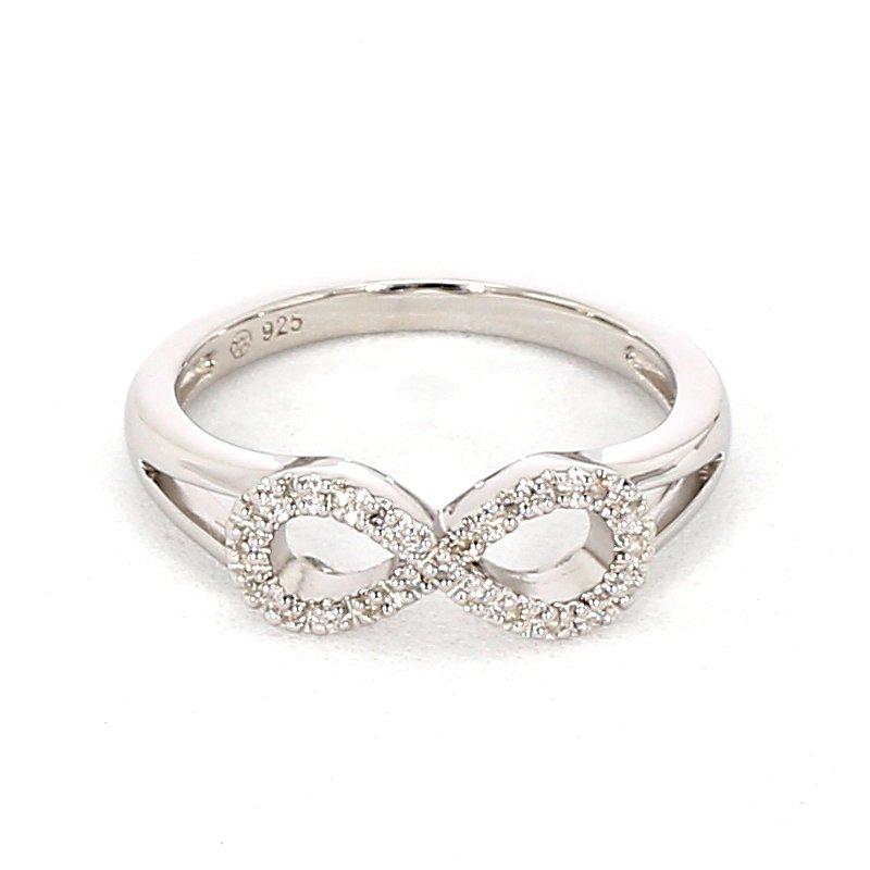 1/11ct Infinity Diamond Ring