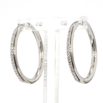 .06ct. Diamond Hoop Earrings
