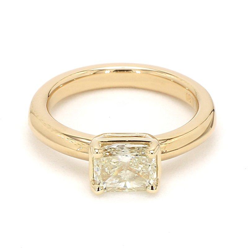 1 1/2ct Radiant Cut Diamond Engagement Ring