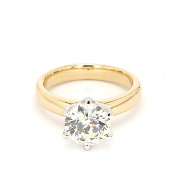 2 Carat Diamond Two Tone Ring