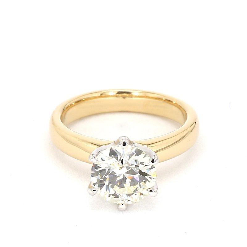 2 Carat Diamond Two Tone Ring