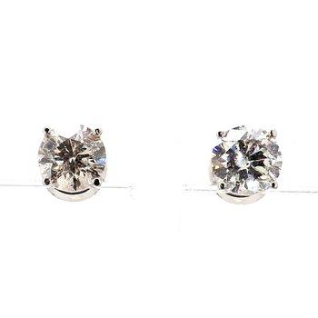 2ct Diamond Stud Earrings