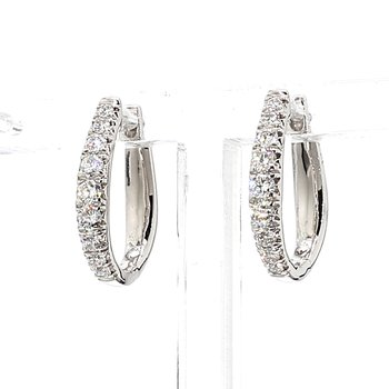1/2ct Diamond Hoop Earrings