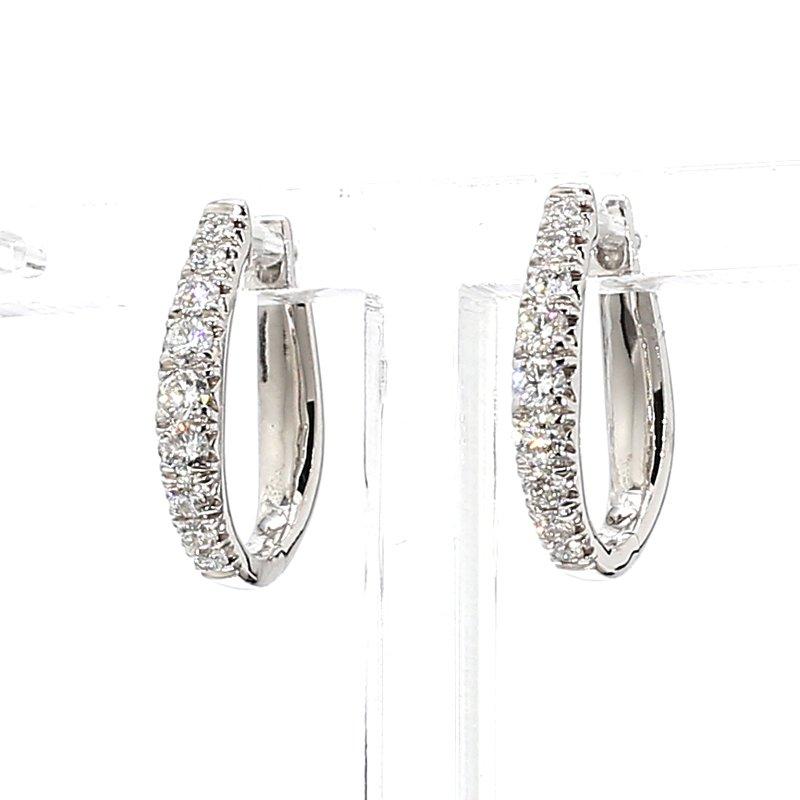 1/2ct Diamond Hoop Earrings
