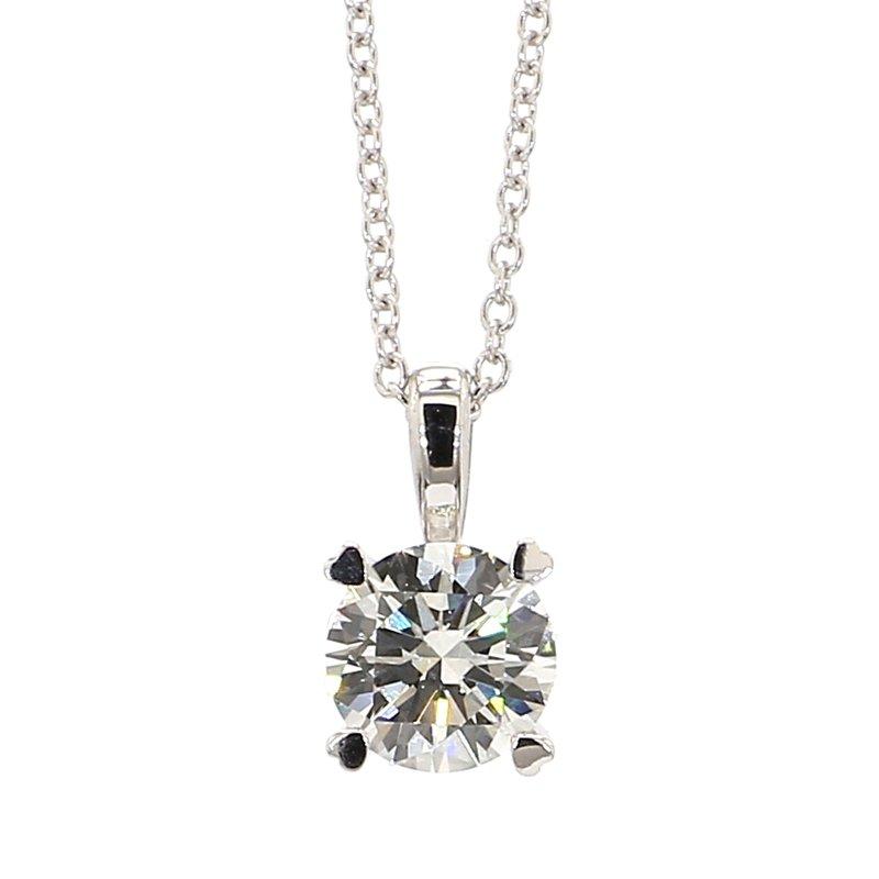 "1ct Laboratory Grown Diamond Solitaire Pendant 18""x 6.50mm"
