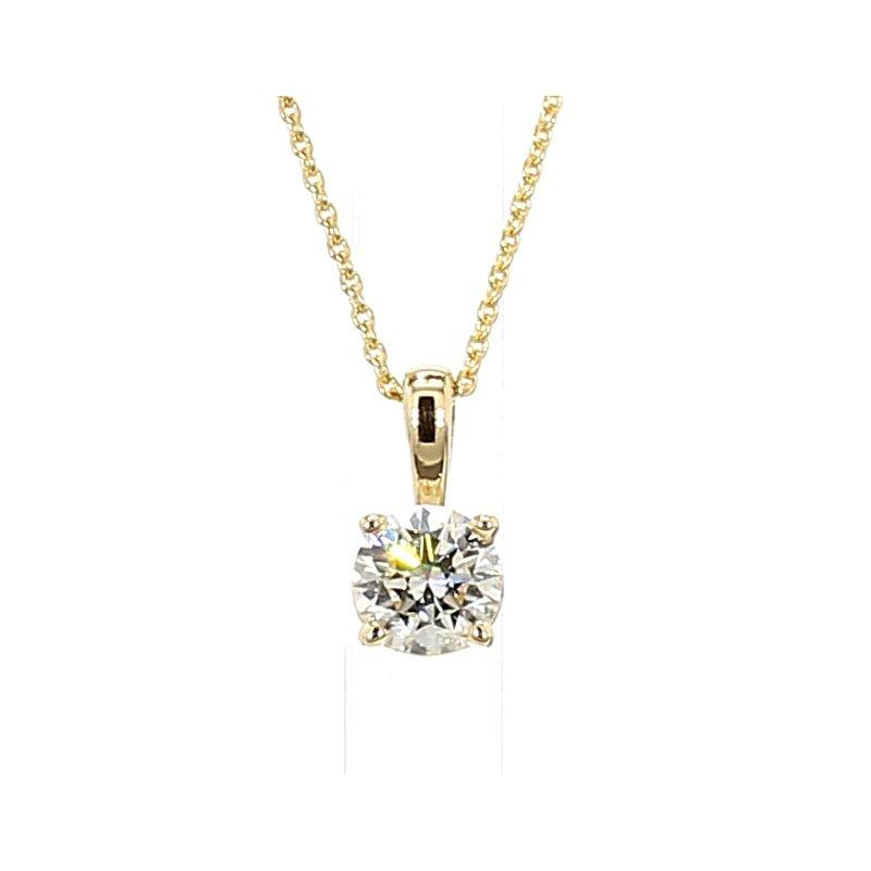 1/3ct Diamond Solitaire Pendant 18: