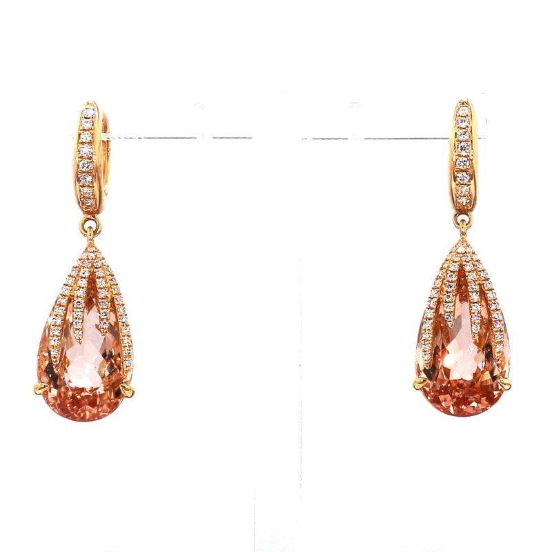 14.65ct Morganite And Diamond Earrings