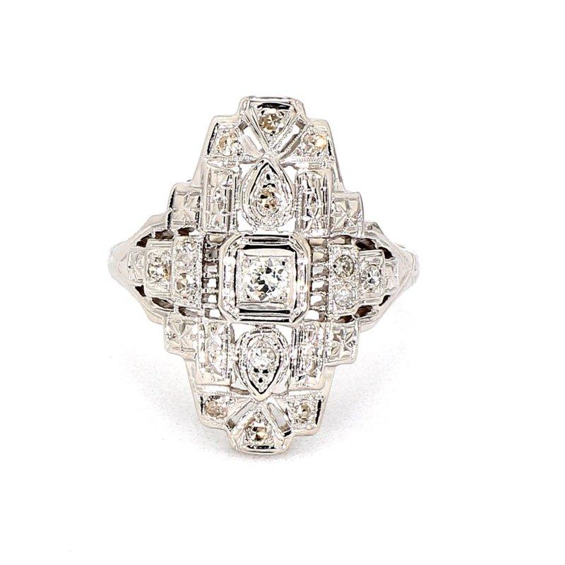 .30CT Diamond Antique Art Deco Ring