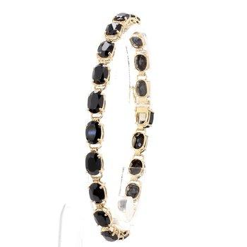 10 Carat Onyx & Gold Bracelet