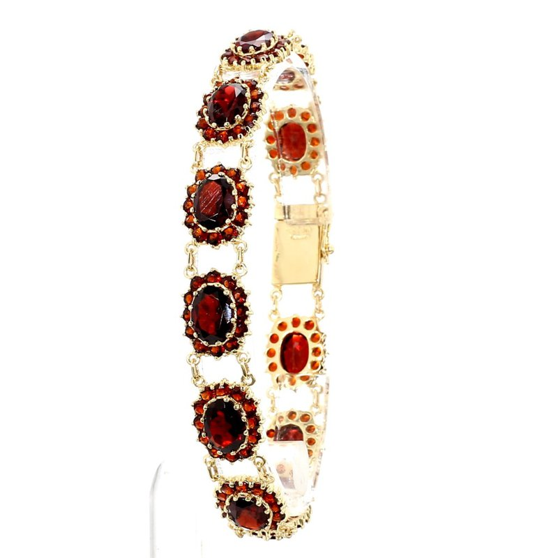 14 2/3ct Garnet Fancy Link Bracelet