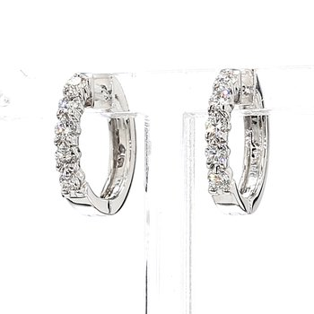 "1/2ct Diamond Huggie Earrings ""Dime Sized"""