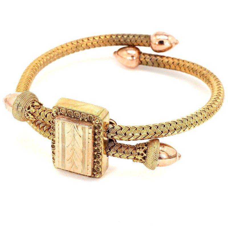 Estate Gold Filled Woven Circa 1900's Bracelet