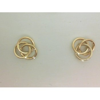 Yellow Gold Celtic Love Knot Earrings
