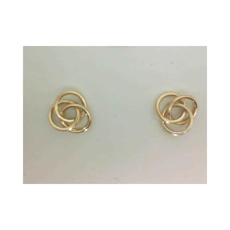 Yellow Gold Celtic Love Knot Earrings