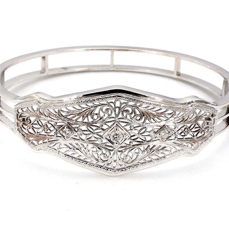 14 Katat White Gold Antique Style Bracelet