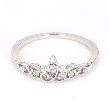 .09 Carat Vintage inspired Diamond band