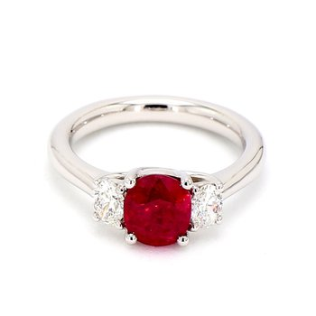 2.0ct Ruby & Diamond Ring