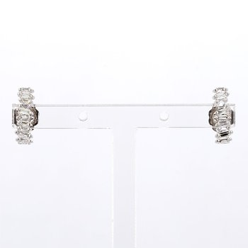 1/5ct Diamond Stud Ear Climber Earrings