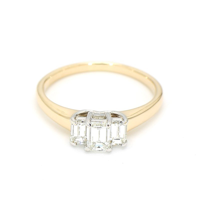 1.01 Carat Three Stone Diamond Engagement Ring