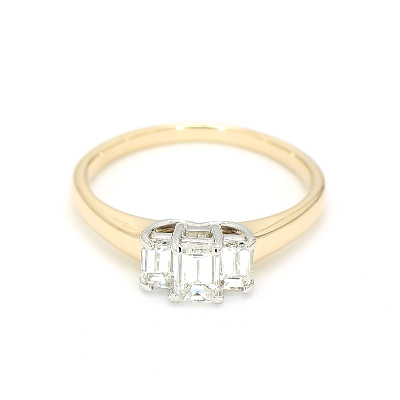 1.01 Carat Three Stone Diamond Engagement Ring