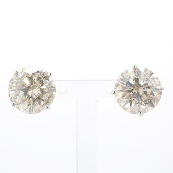 10 Carat Round Diamond Stud Earrings