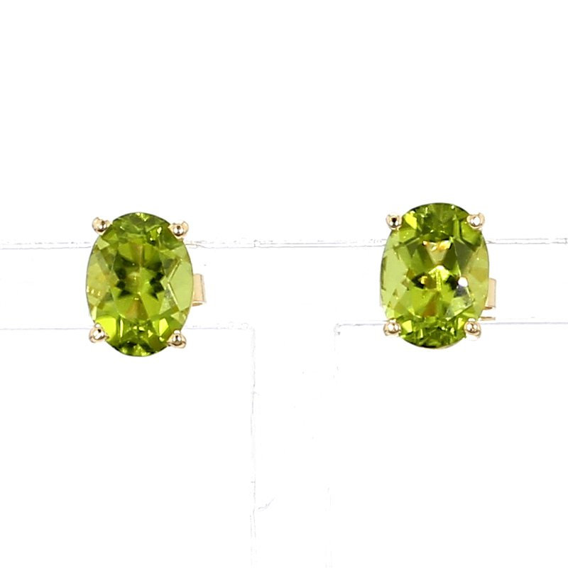 2 3/4ct Peridot Stud Earrings