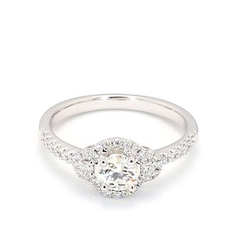 .64 Carat Diamond Halo Engagement Ring