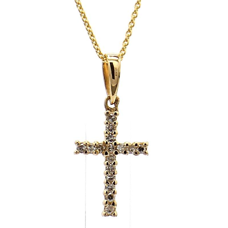 1/10ct Diamond Cross Pendant