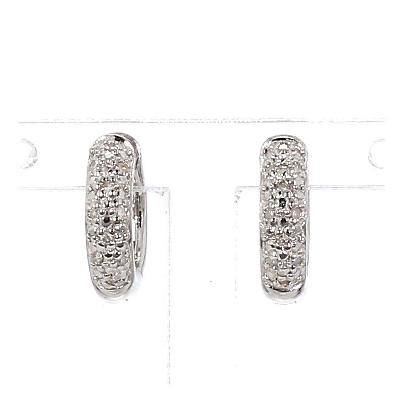 .06ct Pavé Diamond Huggie Hoop Earring 11.94mm X 2.98mm