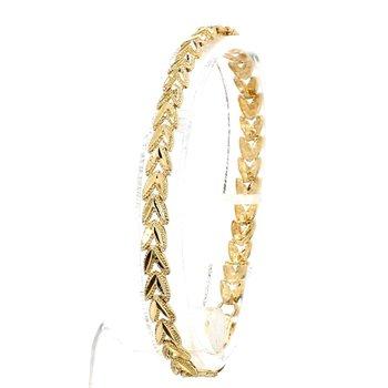 10KY Gold Floral Leaf Bracelet
