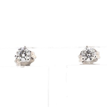 1/3ct Round Brilliant Diamond Stud Earrings