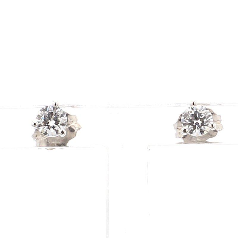 1/3ct Round Brilliant Diamond Stud Earrings