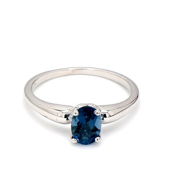 1 1/2ct Iolite Ring