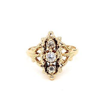 1/5ct Diamond Filigree Vintage Ring