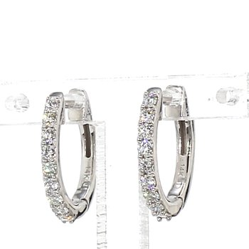 1/3 Ct. Diamond Huggie Earrings 1.6mm X 14mm